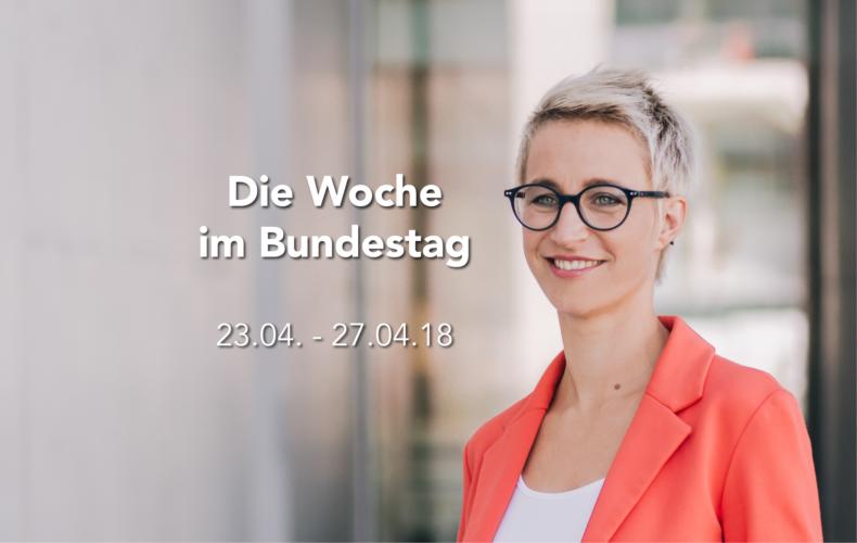 Die Woche im Bundestag  – 23.04. – 27.04.2018